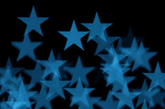 Blue stars abstract blur Royalty Free Stock Photos