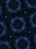 Blue stars abstract shapes pattern Stock Photos