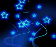 Blue stars background Royalty Free Stock Images