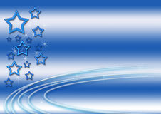 Blue Stars Background. Blue background with stars and sparkles vector illustration