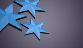 Blue stars background Stock Photo