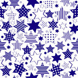 Blue stars background Royalty Free Stock Image
