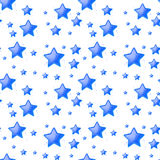 Blue stars background seamless Royalty Free Stock Image