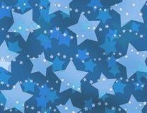 Blue stars backing Stock Photo