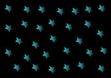 Blue stars on a black background Stock Photography