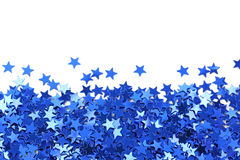 Blue stars confetti Royalty Free Stock Photos