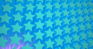 Blue stars. 3D pattern background Royalty Free Stock Photo