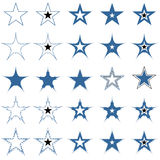 Blue stars. Design elements. Vector. Stock Photos