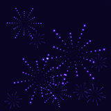 Blue stars firework on the dark sky Royalty Free Stock Image