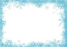 Blue stars frame. stock illustration