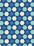 Blue stars and hexagons pattern royalty free stock images