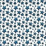 Cute big and small blue stars, salute of stars. pattern vector illustration