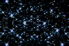 Blue stars on the sky Stock Images