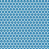 Blue Stars Squares Geometric Pattern Fabric Background. Blue Stars  Squares Stars Geometric Seamless Pattern Fabric Texture Background Template Royalty Free Stock Photos