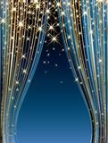 Blue stars stage Royalty Free Stock Images
