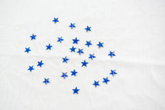 Blue Stars. Blue star plastic sticker embellishments for crafting and scrapbooking Royalty Free Stock Photo