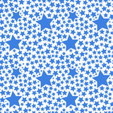 Blue stars on white, seamless pattern Royalty Free Stock Image