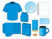 Blue stationary. Vector illustration of the Blue stationary Stock Photos