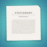 Blue Stationary Background with Copy Space Stock Photos