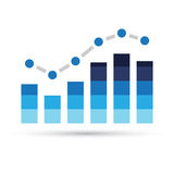 Blue Stats Bars Royalty Free Stock Photo