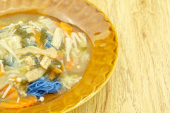 Blue steamed noodle by asian pigeonwings vegetarian Stock Image