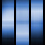 Blue Steel Background. Three blue columns in an abstract design royalty free stock photo