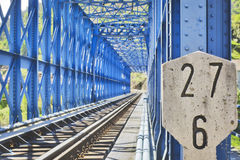 Blue steel bridge Stock Photo