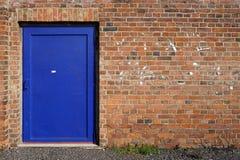 Blue steel door Stock Image