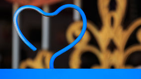 Blue steel heart shaped. valentine love concept. Royalty Free Stock Photos