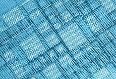 Blue Steel mesh metal plate background Stock Photo
