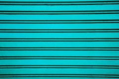 Blue steel roller shutter door background ( garage door with hor Royalty Free Stock Photography