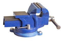 Blue steel vise Royalty Free Stock Photo