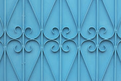 Blue steel wall pattern. Royalty Free Stock Photo