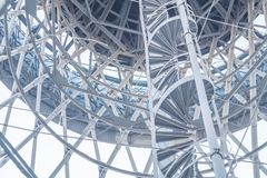 Free Blue Steel Water Tower. Metal. Metal Structures. Perspective. Royalty Free Stock Images - 122054049