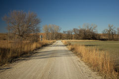 Blue Stem road in Chase County Kansas. One of many unpaved roads in the Flint Hills of Kansas.  This is just off of Highway 50 between Emporia and Newton, Kansas Stock Photos