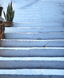 Blue steps Royalty Free Stock Photo