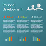 Blue 3 steps personal development infographic Royalty Free Stock Photo