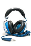 Blue Stereo Headphones Stock Photos