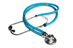 Blue stethoscope Stock Photography
