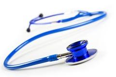 Blue stethoscope. Isolated on white Stock Images