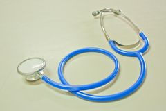 Blue stethoscope Royalty Free Stock Photography