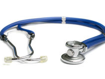 Blue stethoscope Royalty Free Stock Photo