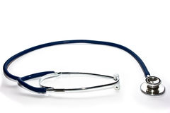 Blue stethoscope Royalty Free Stock Images
