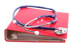 Blue stethoscope isolated on white Stock Image