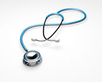 Blue-Stethoscope-Isolated Royalty Free Stock Image