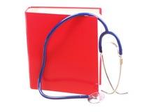 Blue stethoscope isolated on white Royalty Free Stock Images