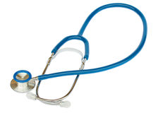 Blue stethoscope Royalty Free Stock Image