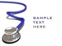 Blue stethoscope on white Stock Photo