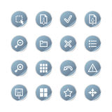 Blue sticker image viewer icon Royalty Free Stock Photography
