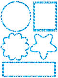 Blue Sticker Set Stock Photography